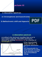 Lectures UV Spectroscopy