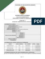 SILABO-ADMINISTRACION DE LA PRODUCCION I (2020-A)