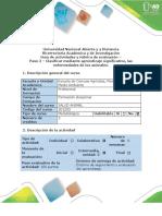 Guía de actividades y rúbrica de evaluación - Paso 2 - Clasificar mediante aprendizaje significativo, las enfermedades de los animales