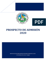 Prospecto de Admisión 2020