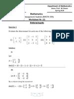 Worksheet 4 - Solution