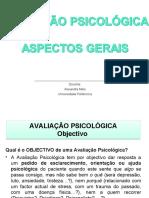 AVALIAÇÃO PSICOLOGICA - ASPECTOS GERAIS