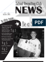 Winter 2005 New Hamshire School Recycling Club Newsletter