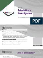 Tema 01 Estadística e Investigación