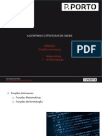 AED-Modulo 2.3 Fubções Intrinsecas