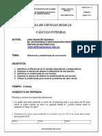 GUIA DE APRENDIZAJE DE DIFERENCIAL Y ANTIDERIVADA DE UNA FUNCIÓN (1)