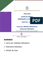PMI3325-Aula 06A -Desmonte Hidraulico (2018)