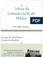 Crítica da Comunicação de Massa