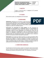 IT-HSE-004 INSTRUCTIVO  EN CASO DE QUE UN  TRABAJADOR DE TECNICONTROL  PRESENTE  SÍNTOMAS PARA POSIBLE COVID19.pdf