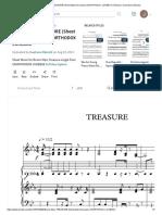 Bruno Mars - TREASURE (Sheet Music for piano) UNORTHODOX JUKEBOX _ Échecs _ Ouverture (échecs).pdf