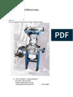 Steel Pulverizer of different types