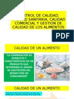 CLASE 1 CONTROL DE CALIDAD, CALIDAD SANITARIA, CALIDAD