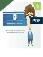 Aplicando el diseño en Word