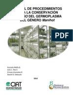 MANUAL_Procedimientos germoplasma in vitro de yuca