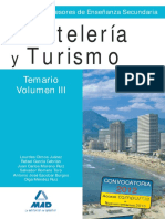 Vol3 TEMARIO CUERPO DE PROFESORES ENSEÑANZA SECUNDARIA. HOSTELERÍA Y TURISMO.