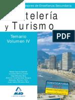 Vol4. TEMARIO CUERPO DE PROFESORES ENSEÑANZA SECUNDARIA. HOSTELERÍA Y TURISMO.