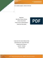 Analisis marginal y cálculo de derivadas.