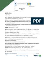 TD 4 avec corrigé de chimie des solutions