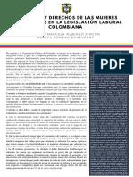 PRINCIPIOS Y DERECHOS DE LAS MUJERES EMBARAZADAS EN LA LEGISLACIÓN LABORAL COLOMBIANA