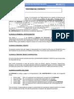 Sección III - Modelo de Contrato