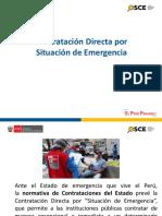 01. Contrataciones Directas en situación de emergencia