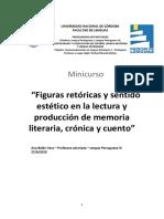 MINICURSO Figuras retóricas y sentido estético en la lectura y producción de memoria literaria, crónica y cuento corto.