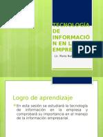 """SEM2 TECNOLOGIA DE INFORMACIÃ""""N EN LA EMPRESA"""