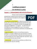 Finance publique  cours complet