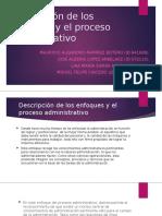 Descripción de los enfoques y el proceso administrativo