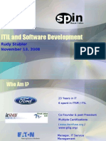 ITIL and Software Development