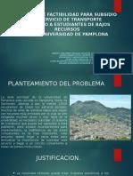ESTUDIO DE FACTIBILIDAD PARA SUBSIDIO DE SERVICIO DE