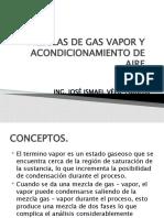 PRESENTACIÒN MEZCLAS DE GAS VAPOR Y ACONDICIONAMIENTO DE AIRE (P-3)