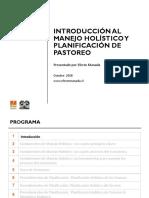 INTRODUCCION AL MANEJO HOLISTICO Y PLANIFICACION NDE PASTOREO EFECTO MANADA