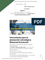 Herramienta para la planeación estratégica_ Balanced Scorecard - Minuto de Dios Industrial