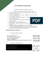 Materiales cerámicos su clasificación y aplicaciones