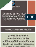 Control político de políticas públicas