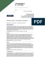 Gestión y diseño_ Convergencia disciplinar _ Manrique López _ Revista científica Pensamiento y Gestión