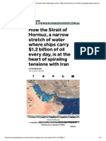 How the Strait of Hormuz, a narrow stretch of water where ships carry $1.2 billion of oil every day, is at the heart of spiraling tensions with Iran _ Business Insider