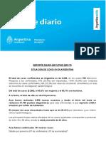 Reporte Matutino COVID-19 Argentina