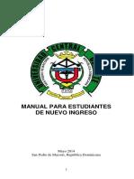 Manual para Estudiantes de Nuevo Ingreso