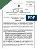 Decreto número 593 de 2020