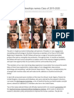 JSK Journalism Fellowships names Class of 2019-2020