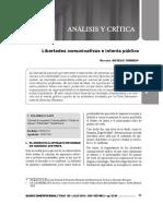 GACETA JURÍDICA. Libertades comunicativas e interés público