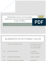 COMPONENTS OF DUTIABLE VALUE