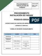 POSGI-03-ODS18 PROCEDIMIENTO INSTALACIÓN DE FAENA  MEJORADO Rev 3