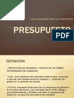 PRESUPUESTO- presentación
