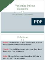 Vesiculobullous Lesions