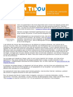Bibliographie Langues africaines mars 2012