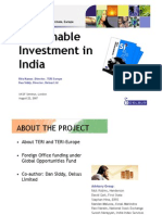 Sustainable Investment in India Presentation)