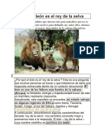 Por qué el león es el rey de la selva